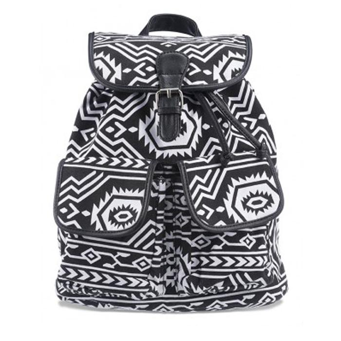 schooltas zwart wit