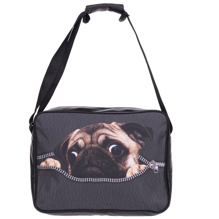 1db60d4eeda Messenger Bag Pug Hond Schooltas Schoudertas Goedkoop