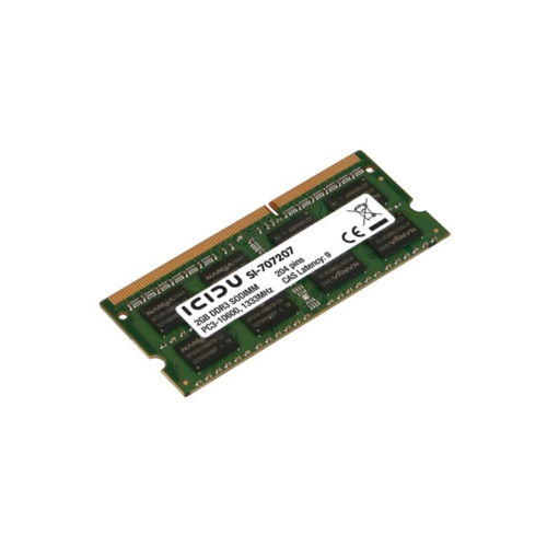 Notebook 2GB DDR3 1333MHz Geheugen ICIDU