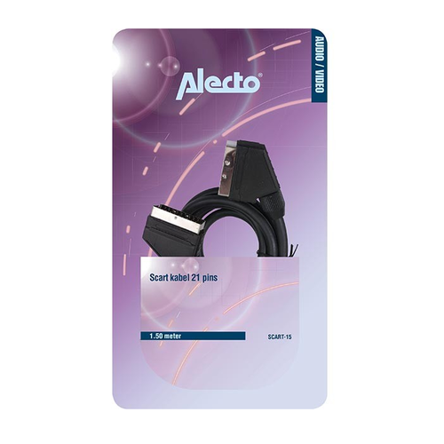 Audio Video Scart Kabel 21 pins 1,5 m SCART-15 Alecto