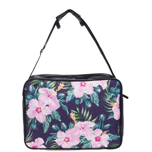 Messenger Bag Tropical Pink Flower