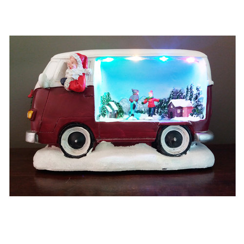 Kerstman in VW bus LED Bewegend